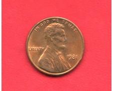 1981 - STATI UNITI - 1 CENT. LINCOLN - LOTTO/M26220