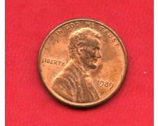 1989 - STATI UNITI - 1 CENT. LINCOLN - LOTTO/M26234