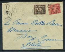 1898 - FRANCIA - 25 e 50 cent. BUSTA PER L'ITALIA - LOTTO/26263