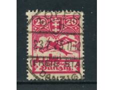 1924 - DANZICA - 20p. POSTA AEREA - USATO - LOTTO/26292