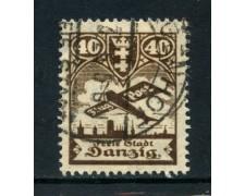 1924 - DANZICA - 40p. POSTA AEREA - USATO - LOTTO/26293