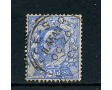 1902 - GRAN BRETAGNA - 2,5p. AZZURRO RE EDOARDO - USATO -LOTTO/26296