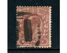 1902 - GRAN BRETAGNA - 6p. VIOLETTO RE EDOARDO - USATO -LOTTO/26297
