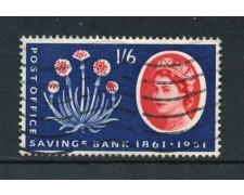 1961 - GRAN BRETAGNA - 1/6 PIANTA DELLA PROSPERITA' - USATO - LOTTO/