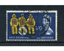1963 - GRAN BRETAGNA - 1/6 SICUREZZA MARITTIMA - USATO - LOTTO/26306