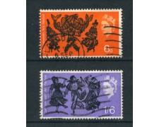 1965 - GRAN BRETAGNA - FESTIVAL ARTISTICO 2v. - USATI - LOTTO/26309