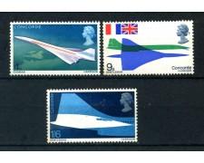 1969 - GRAN BRETAGNA - AEREO CONCORDE 3v. - NUOVI - LOTTO/26317
