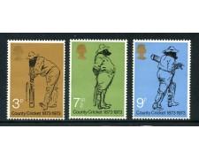1973 - GRAN BRETAGNA - COUNTRY CRICKET 3v. - NUOVI - LOTTO/26335