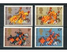 1974 - GRAN BRETAGNA - FAMOSI CAVALIERI  4v. - NUOVI - LOTTO/26343