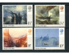 1975 - GRAN BRETAGNA - WILLIAM TURNER PITTORE 4v. - NUOVI - LOTTO/26346