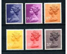 1976 - GRAN BRETAGNA - POSTA ORDINARIA 6v. - NUOVI - LOTTO/26352