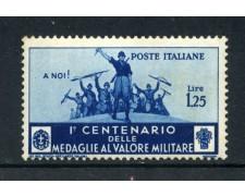 1934 - REGNO - 1,25 LIRE MEDAGLIE AL VALORE - NUOVO - LOTTO/26355