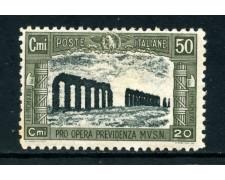 1928 - REGNO - 50+20c. PRO OPERE PREVIDENZA - LINGUELLATO - LOTTO/26359