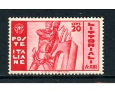1935 - REGNO - 20c. LITTORIALI - NUOVO - LOTTO/26360