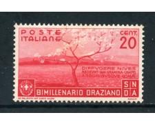 1936 - REGNO - 20c. BIMILLENARIO DI ORAZIO - LING. - LOTTO/26362