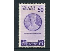1936 - REGNO - 50c. BIMILLENARIO DI ORAZIO - LING. - LOTTO/26363