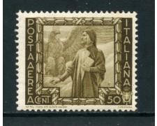 1938 - REGNO - POSTA AEREA - 50c. PROCLAMAZIONE IMPERO - NUOVO - LOTTO/26378