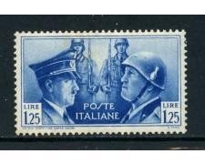 1941 - REGNO - 1,25 LIRE  FRATELLANZA D'ARMI - NUOVO - LOTTO/26382