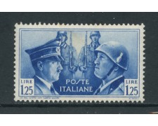 1941 - REGNO - 1,25 LIRE FRATELLANZA D'ARMI - LINGUELLATO - LOTTO/26383