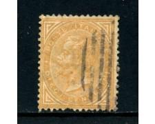 1863 - REGNO - 10c. GIALLO OCRA VITT. EMANUELE II° - USATO - LOTTO/26396