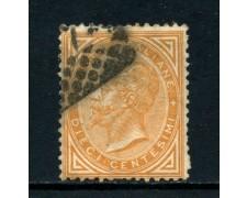 1863 - REGNO - 10c. GIALLO OCRA VITT. EMANUELE II° - USATO - LOTTO/26397