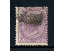 1863 - REGNO - 60 cent. LILLA VITTORIO EMANUELE II° - USATO - LOTTO/26402