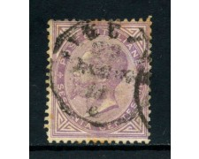 1863 - REGNO - 60 cent. LILLA VITTORIO EMANUELE II° - USATO - LOTTO/26402A