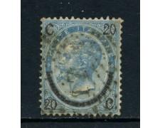 1865 - REGNO - 20 su 15 cent. VITTORIO EMANUELE II°  3° TIPO - USATO - LOTTO/26406
