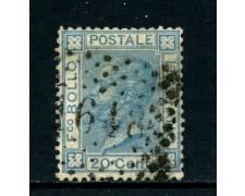 1867 - REGNO - 20 cent. CELESTE VITTORIO EMANUELE II° USATO - LOTTO/26408