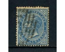 1877 - REGNO - 10 cent. AZZURRO VITTORIO EMANUELE II° - USATO - LOTTO/26411