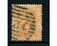 1877 - REGNO - 20 cent. OCRA ARANCIO VITTORIO EMANUELE II° - USATO - LOTTO/26414