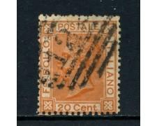 1877 - REGNO - 20 cent. OCRA ARANCIO VITTORIO EMANUELE II° - USATO - LOTTO/26415