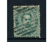 1879 - REGNO - 5 cent. VERDE  RE UMBERTO I° - USATO - LOTTO/26421