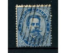 1879 - REGNO - 25 cent. AZZURRO RE UMBERTO I° - USATO - LOTTO/26426