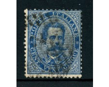 1879 - REGNO - 25 cent. AZZURRO RE UMBERTO I° - USATO - LOTTO/26428
