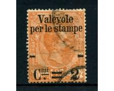 1890 - REGNO - 2cent. su 1,25 ARANCIO - PACCHI SOPRASTAMPATI - USATO - LOTTO/26434