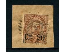 1890 - REGNO - 20c.  su 30C. BRUNO UMBERTO I° - USATO - LOTTO/26440