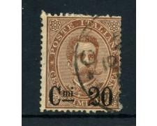 1890 - REGNO - 20c. su 30c. BRUNO UMBERTO I° - USATO - LOTTO/26442