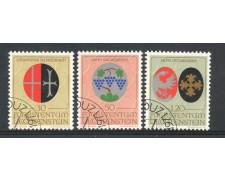 1971 - LIECHTENSTEIN - STEMMI DEI PATRONI 3v. - USATI - LOTTO/26445U