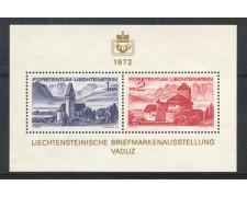 1972 - LIECHTENSTEIN - ESPOSIZIONE FILATELICA LIBA - FOGLIETTO NUOVO - LOTTO/26447