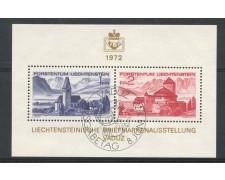 1972 - LIECHTENSTEIN - ESPOSIZIONE FILATELICA LIBA - FOGLIETTO USATO FDC - LOTTO/26447U