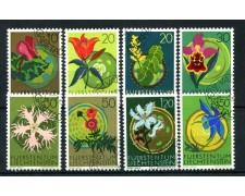 1970 - LIECHTENSTEIN - FIORI 8v. - USATI - LOTTO/26449
