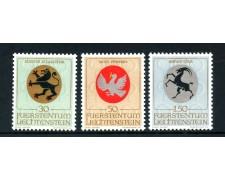 1969 - LIECHTENSTEIN - STEMMI 3v. - NUOVI - LOTTO/26450