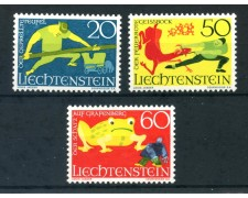 1969 - LIECHTENSTEIN - LEGGENDE 3v. - LOTTO/26451