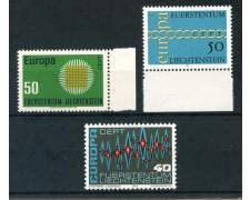1970/1972 - LIECHTENSTEIN - EUROPA 3v. - NUOVI - LOTTO/26454