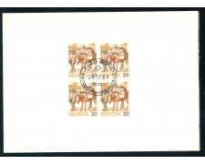 1989 - SVIZZERA - 20c. TRASPORTI POSTALI SU FOLDER DI AUGURI - LOTTO/26458
