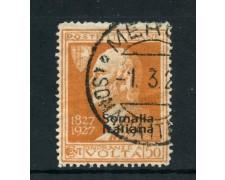 1927 - SOMALIA ITALIANA - 50c. ARANCIO  A.VOLTA - USATO - LOTTO/26461