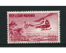 1961 - LOTTO/2646C -  SAN MARINO - 1000 LIRE ELICOTTERO - NUOVO