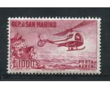 1961 - LOTTO/2646D - SAN MARINO - 1000 LIRE ELICOTTERO P/A - NUOVO