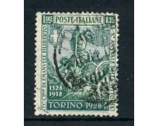 1928 - REGNO - 1,75 EMANUELE FILIBERTO - USATO - LOTTO/26471